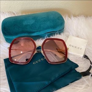 New Gucci 56mm oversized sunglasses